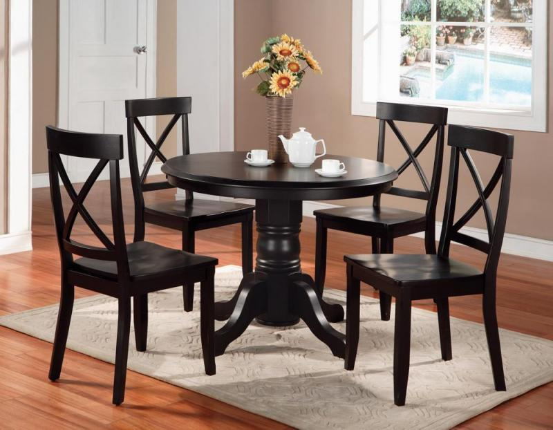 Home Styles Black Oak 5pc Dining Set