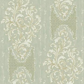 York Saint Augustine Embroidered Damask Wallpaper