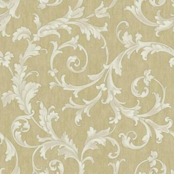 York Saint Augustine Embroidered Scroll Wallpaper