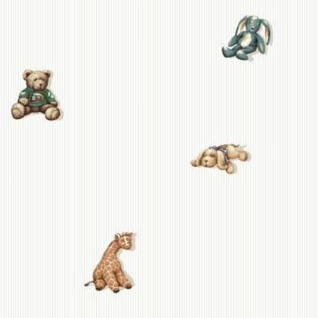 York Room To Grow Stuffed Animal Spot Wallpaper