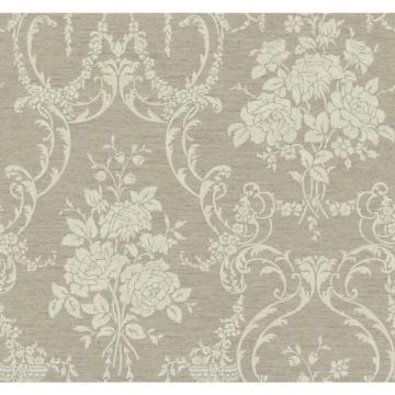 York Saint Augustine Neoclassical Rose Damask Wallpaper