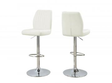 Monarch Barstool - 2PCS / White / Chrome Metal  Hydraulic  Lift
