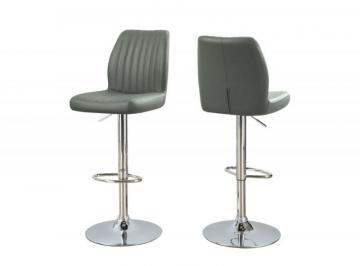 Monarch Barstool - 2PCS / Grey / Chrome Metal  Hydraulic  Lift