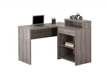 Monarch Computer Desk - Dark Taupe Corner With Storage