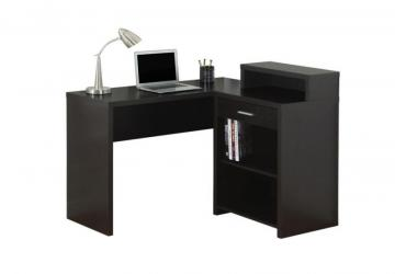 Monarch Computer Desk - Cappuccino Corner With Storage