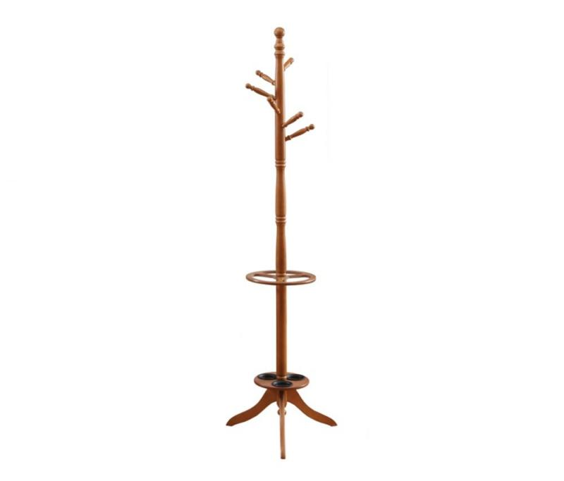 "Monarch Coat Rack - 71"" H / Oak With an Umbrella Holder"