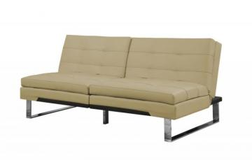 Monarch Futon - Split Back Click Clack / Taupe Leather-Look