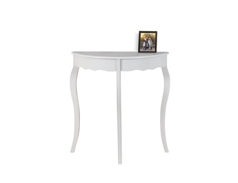 "Monarch Accent Table - 31"" L / Antique  White Hall  Console"