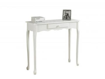 "Monarch Accent Table - 36"" L / Antique  White Hall  Console"