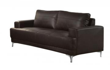 Monarch Sofa - Brown Bonded Leather