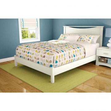 "South Shore Step One Queen Platform Bed (60""), Pure White"
