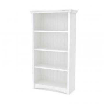 South Shore Gascony 4-Shelf Bookcase, Pure White