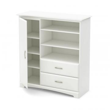 South Shore Callesto Armoire with Drawers, Pure White