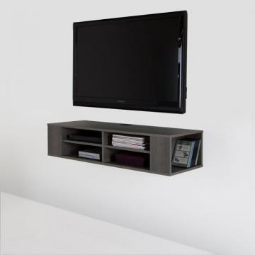 "South Shore City Life 48"" Wall Mounted Media Console, Gray Maple"