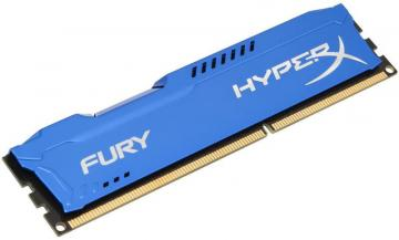 Kingston Hyperx 8GB 1600MHz Fury DDR3 DIMM RAM, Blue