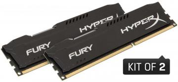 Kingston Hyperx 8GB 1866MHz Fury DDR3 DIMM RAM, Black Kit (2x 4GB)