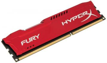Kingston Hyperx 8GB 1866MHz Fury DDR3 DIMM RAM, Red