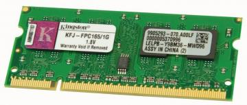 Kingston 1GB SO-DIMM 200-pin DDR2 SDRAM Unbuffered 533MHz (PC2-4300)
