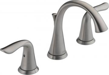 Delta Lahara Widespread 2-Handle Bathroom Faucet in Stainless Steel Finish