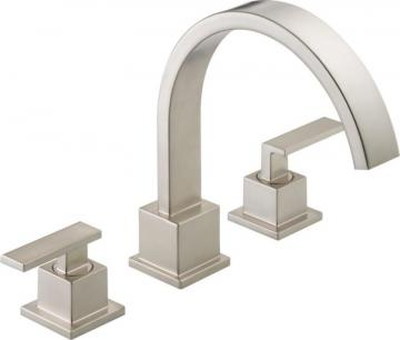 Delta Vero 2-Handle Roman Bath Faucet Only in Stainless Finish