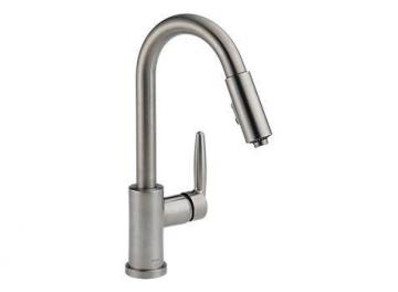 Delta Grail Stainless Steel Pull-Down Kitchen Faucet