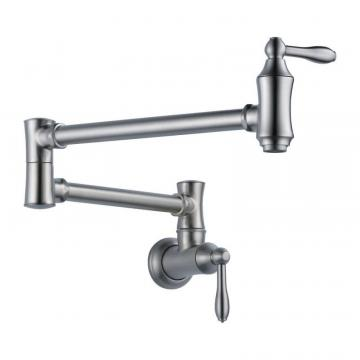 Delta Pot Filler Faucet - Wall Mount, Arctic Stainless