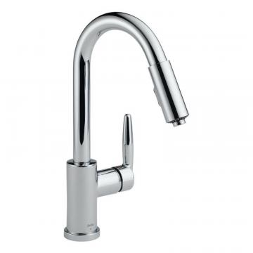 Delta Grail Chrome Single Handle Pull-Down Kitchen Faucet