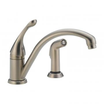 Delta Collins Single Handle Side Sprayer Kitchen Faucet in Stainless
