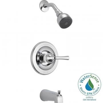 Delta Pressure-Balanced Bath/Shower Faucet in Chrome