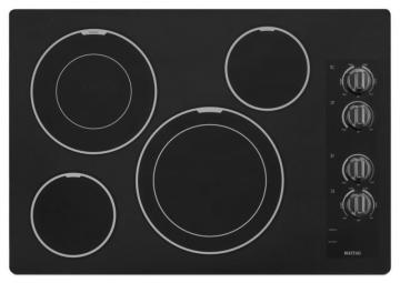 "Maytag 31"" Electric Cooktop with Two Dual-Choice Elements in Black"