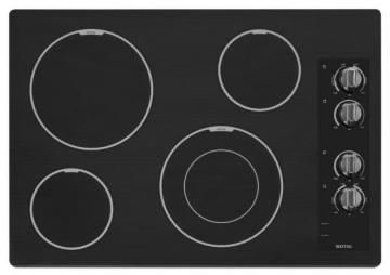 "Maytag 31"" Electric Cooktop with Speed Heat Element in Black"