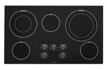 "Maytag 36"" Electric Cooktop with Two Dual-Choice Elements in Black"