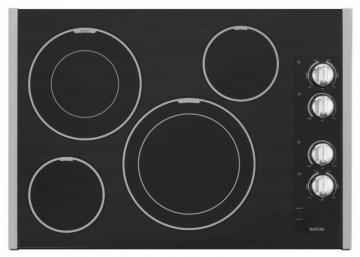 "Maytag 31"" Electric Cooktop with Two Dual-Choice Elements in Stainless Steel"