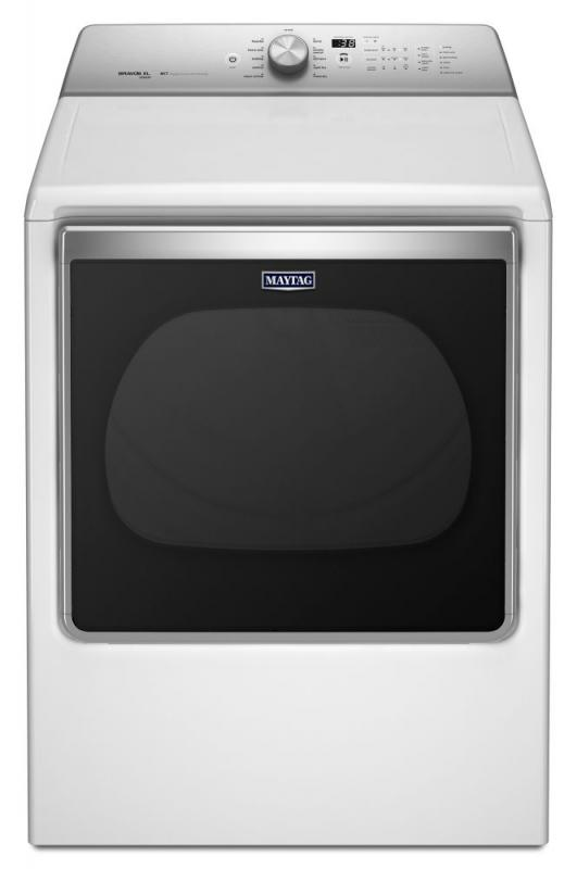 Maytag 8.8 cu. ft. Extra-Large Capacity Electric Dryer with Advanced Moisture Sensing in White