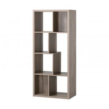 Homestar 7 Compartment Shelving Console in Reclaimed Wood