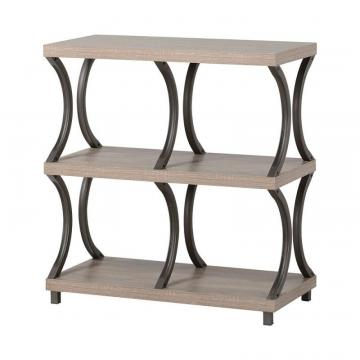 Homestar 3 Shelf/ 4 Compartment Bookcase in Reclaimed Wood