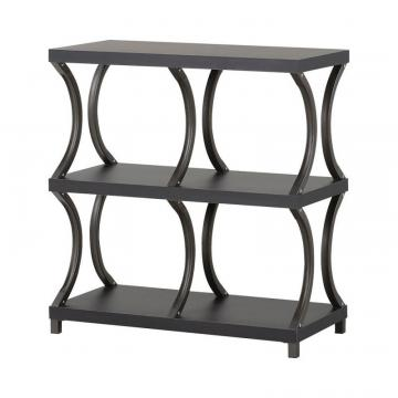 Homestar 3 Shelf/ 4 Compartment Bookcase in Espresso