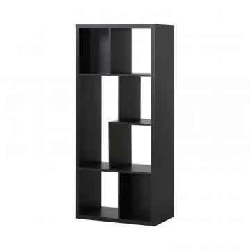 Homestar 7 Compartment Shelving Console in Espresso
