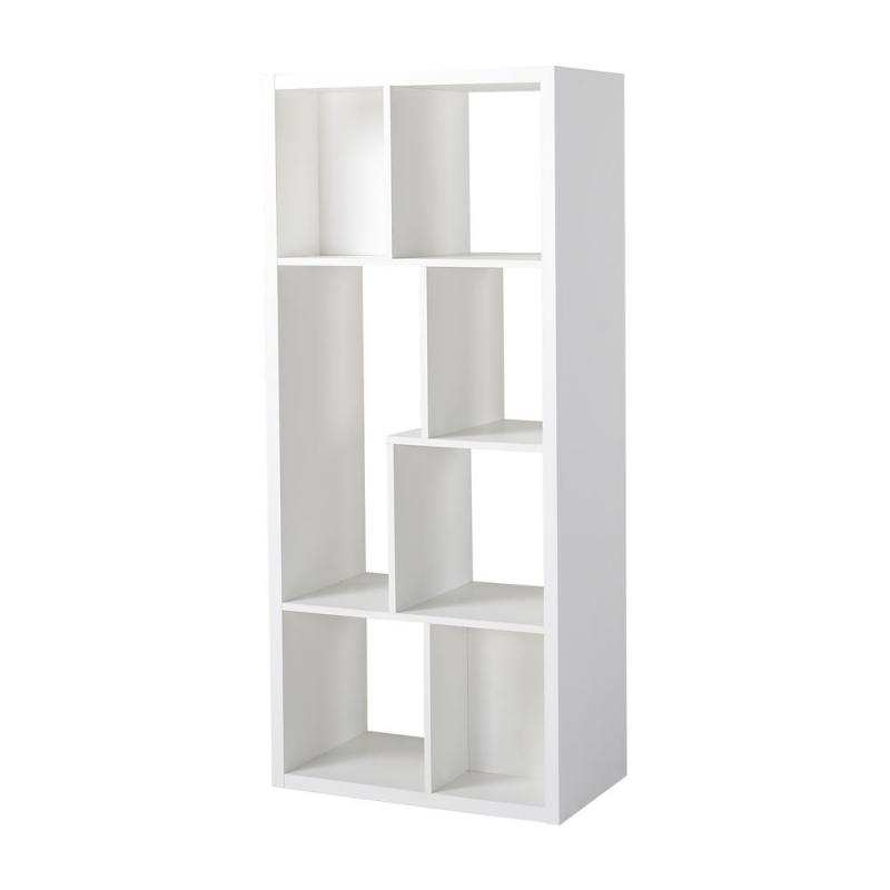 Homestar 7 Compartment Shelving Console in White