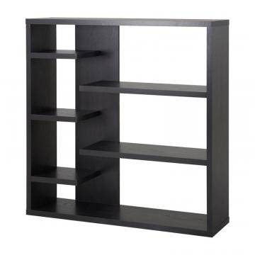 Homestar 6 Shelf Storage Bookcase in Espresso