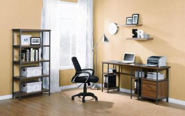 Homestar Laptop Desk With 4-Shelves