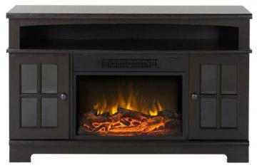 Homestar Zarate 44.5 Inch Wide Media Fireplace in Espresso