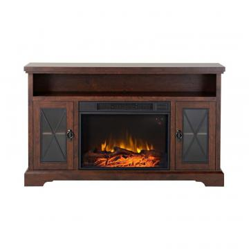 Homestar Padova 57.5 Inch Wide Media Fireplace in Walnut