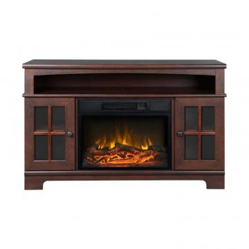 Homestar Zarate 44.5 Inch Wide Media Fireplace in Walnut