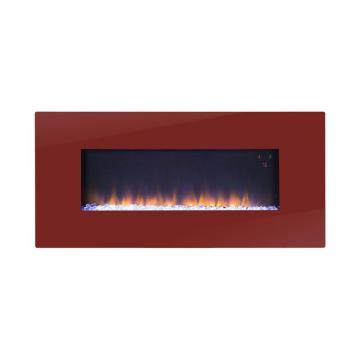 Homestar Paris 41 Inch Wide Wall Mount Firebox in Red