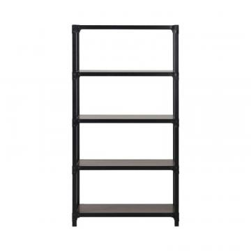 Homestar 4-Shelf Mixed Materials Bookshelf In Cherry