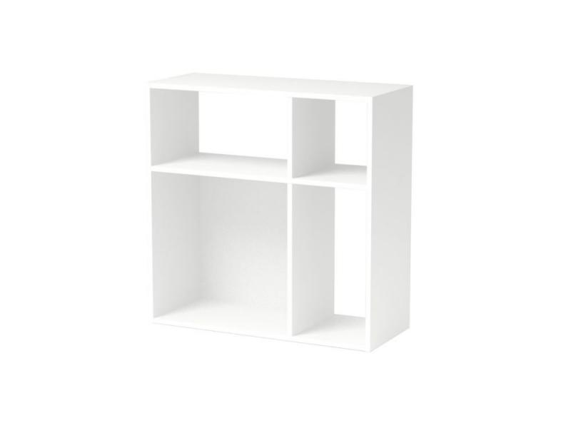 Homestar Asymmetrical Cube Storage, White