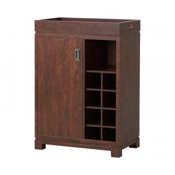Homestar Wine Cabinet With Removable Tray in Brown
