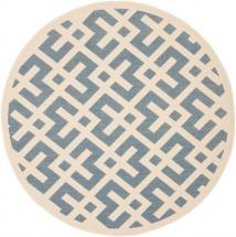 "Safavieh Courtyard Blue / Bone 5 ' 3"" x 5 ' 3"" Indoor/Outdoor Round Area Rug"