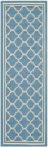 "Safavieh Courtyard Blue / Beige 2 ' 3"" x 14 ' Indoor/Outdoor Runner"